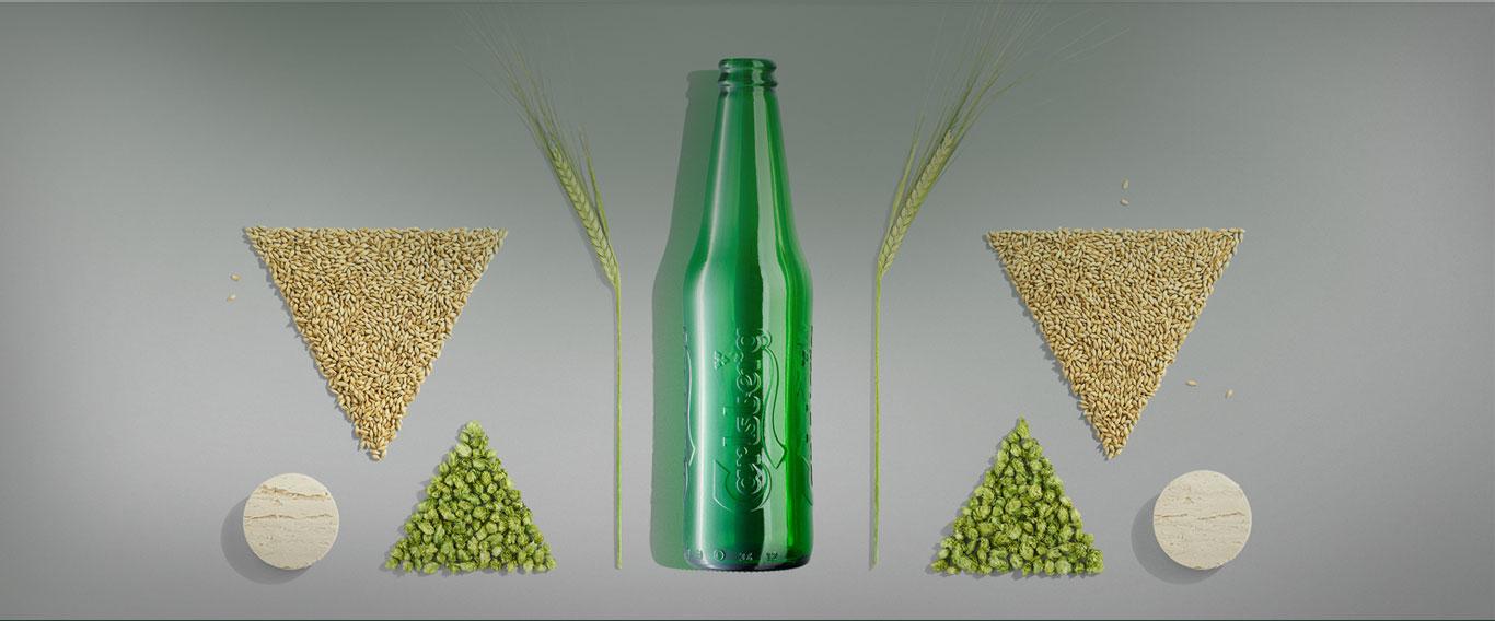 בקבוק ורכיבי בירה