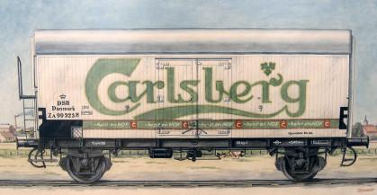 קרון עם לוגו של קרלסברג